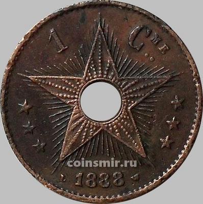 1 сантим 1888 Бельгийское Конго.