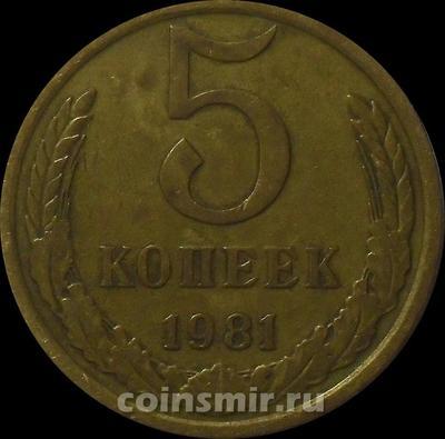 5 копеек 1981 СССР.