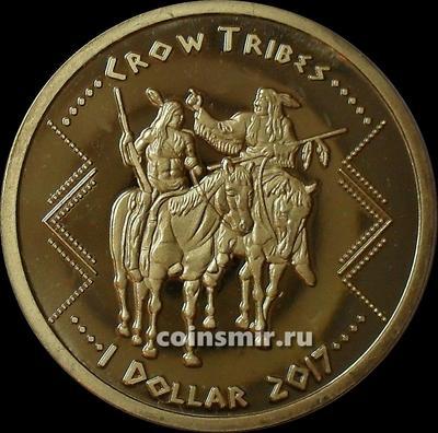 1 доллар 2017 племя Кроу.