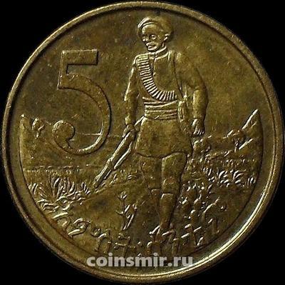 5 центов 2012 Эфиопия.