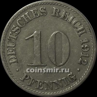 10 пфеннигов 1912 А Германия.