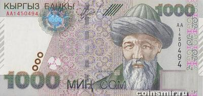 1000 сом 2000 Киргизия.