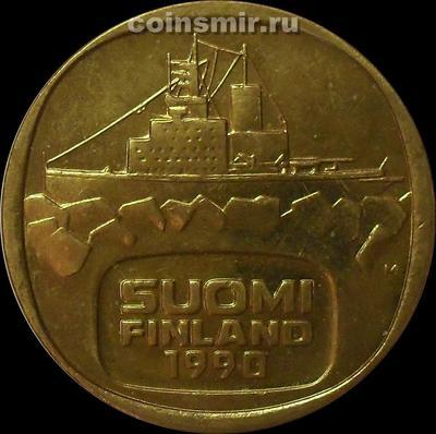 5 марок 1990 Финляндия. Ледокол Урхо.