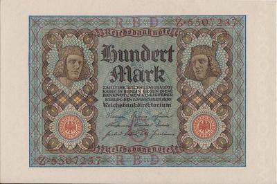 100 марок 1920 Германия.