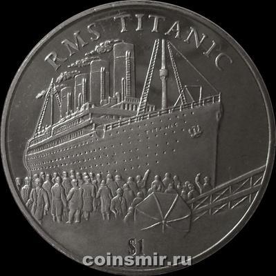 1 доллар 2002 Сьерра-Леоне. Титаник.