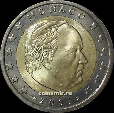 2 евро 2001 Монако.
