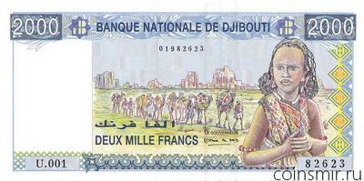 2000 франков 1997 Джибути.