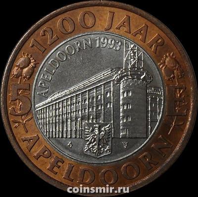 Жетон 5 Е 1993 года. 1200 лет Апелдорну. Нидерланды.