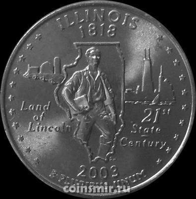 25 центов 2003 D США. Иллинойс.