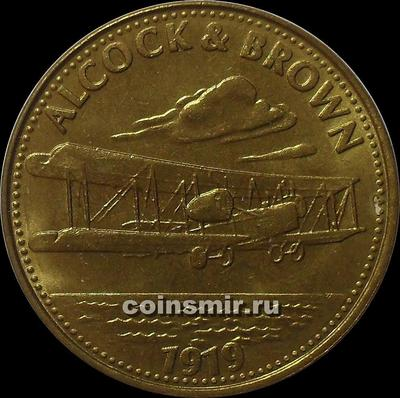 Жетон shell ALCOCK s BROWN 1919