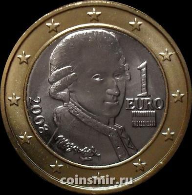 1 евро 2008 Австрия. Моцарт.
