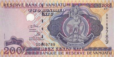 200 вату 2002-2010 Вануату.