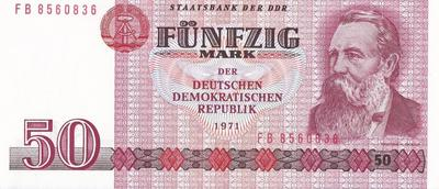 50 марок 1971 Германия (ГДР) Фридрих Энгельс.