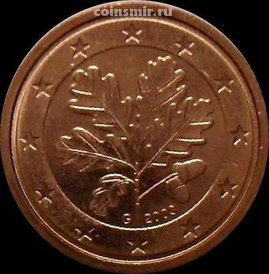 2 евроцента 2003 G Германия. Листья дуба.