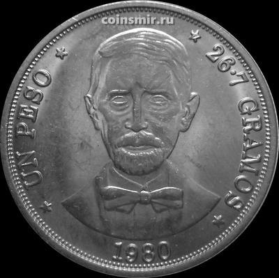 1 песо 1980 Доминиканская республика. Хуан Пабло Дуарте.