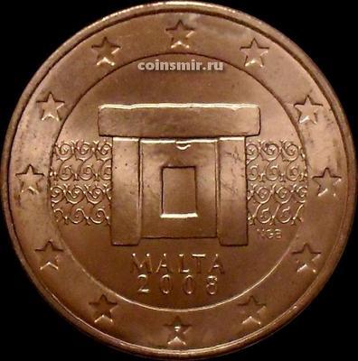 5 евроцентов 2008 Мальта.