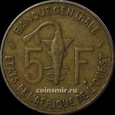 5 франков 1980 КФА BCEAO (Западная Африка). VF.