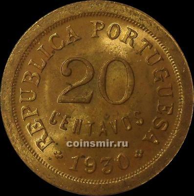 20 сентаво 1930 Кабо-Верде.