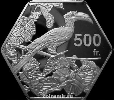 500 франков 2019 Бакасси. Пёстрый ток.
