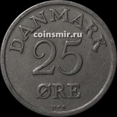 25 эре 1950 N;S Дания.