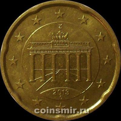 20 евроцентов 2013 D Германия.