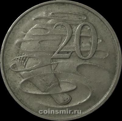 20 центов 1966 Австралия. Утконос.