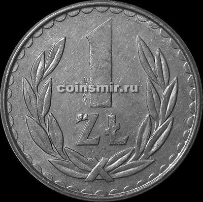 1 злотый 1988 Польша.