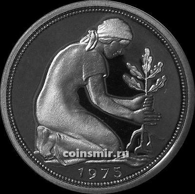 50 пфеннигов 1975 G Германия ФРГ. Пруф.