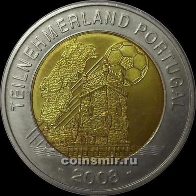 Жетон. Чемпионат Европы 2008. Австрия.  Страна-участник Португалия.