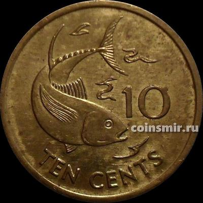 10 центов 2003 РМ Сейшельские острова. Тунец.