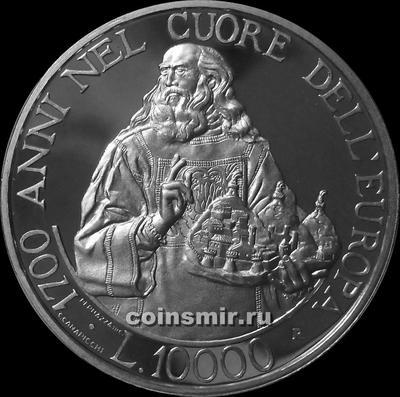 10000 лир 2000 Сан-Марино. 1700 лет республике.