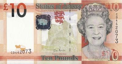 10 фунтов 2010 Джерси.