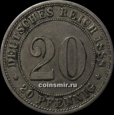 20 пфеннигов 1888 Е Германия.