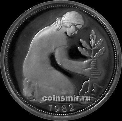50 пфеннигов 1982 D Германия ФРГ. Пруф.