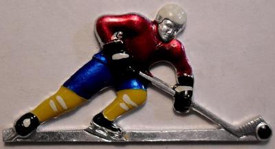 Значок Хоккей с шайбой.