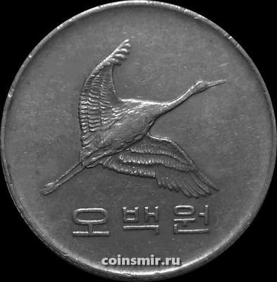 500 вон 1983 Южная Корея. Маньчжурский журавль.