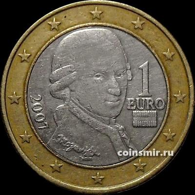 1 евро 2007 Австрия. Моцарт. VF
