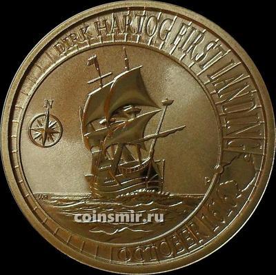 1 доллар 2016 Австралия.  400 лет высадке Дирка Хартога в Австралии.