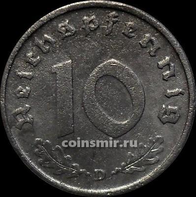 10 пфеннигов 1940 D Германия.