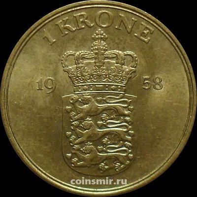 1 крона 1958 Дания.