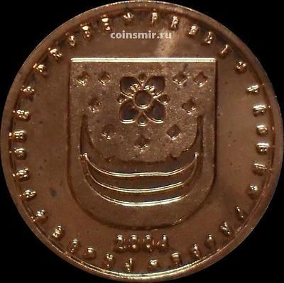 5 евроцентов 2004 Норвегия. Герб. Европроба. Ceros.