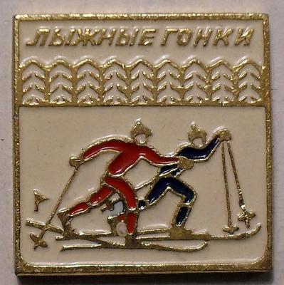 Значок Лыжные гонки.