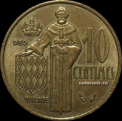 10 сантимов 1975 Монако.