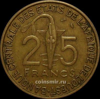 25 франков 1972  КФА BCEAO (Западная Африка).
