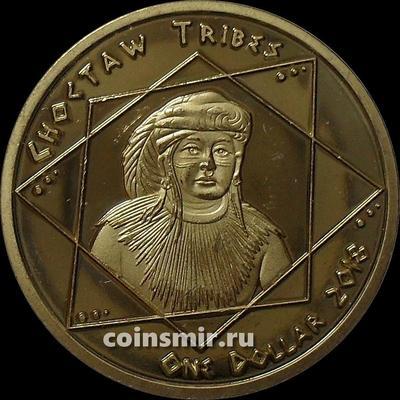 1 доллар 2018 племя Чокто.