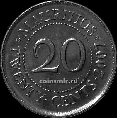 20 центов 2007 Маврикий.