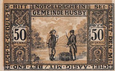 50 пфеннигов 1921 Германия. г.Хусби (Шлезвиг-Гольштейн). Нотгельд.