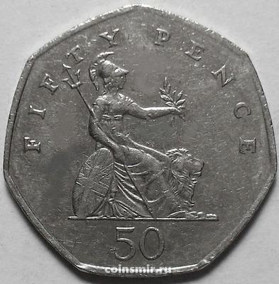 50 пенсов 2006 Великобритания. VF