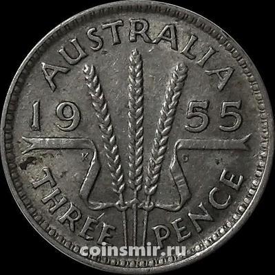 3 пенса 1955 Австралия.