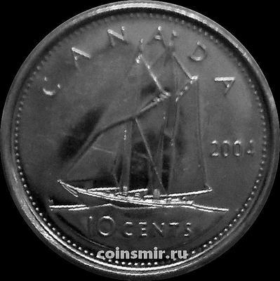 10 центов 2004 Канада. Парусник.